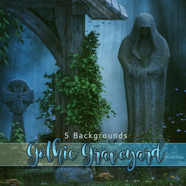 Gothic Graveyard Backgrounds (FS/CU)