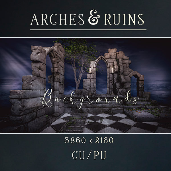 Arches and Ruins backgrounds (FS/CU)