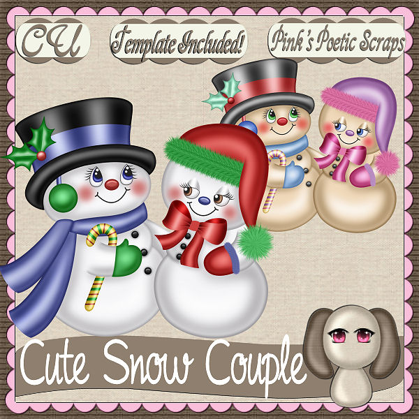 Cute Snow Couple (FS/CU/TEMPLATE/PSP SCRIPT)