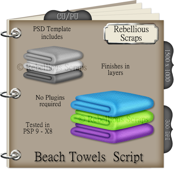 Beach Towels (FS/CU4CU/TEMPLATE/SCRIPT)