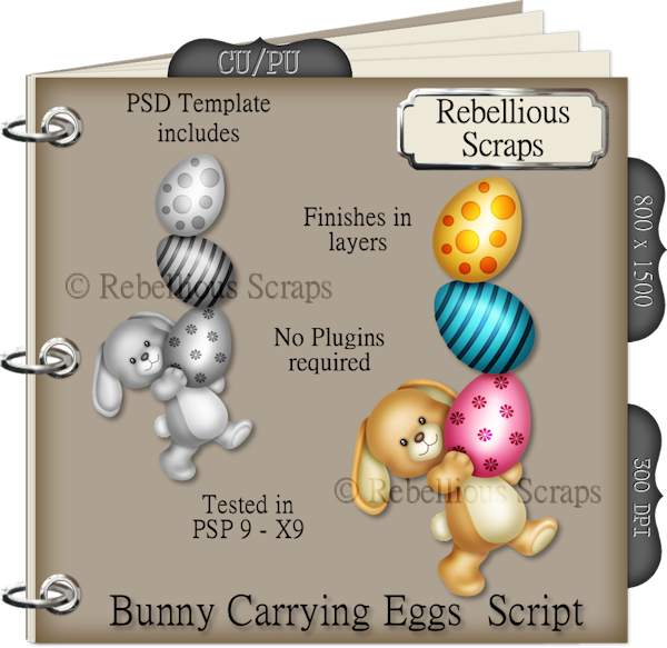 Bunny Carrying Eggs (FS/CU4CU/TEMPLATE/SCRIPT)