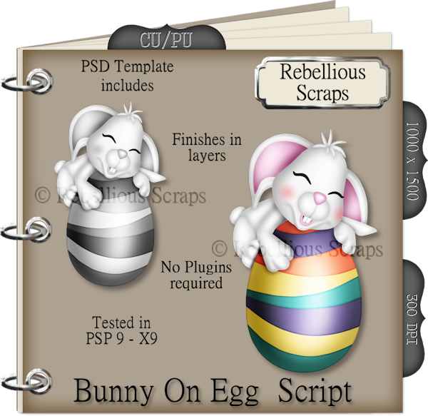 Bunny On Egg (FS/CU4CU/TEMPLATE/SCRIPT)