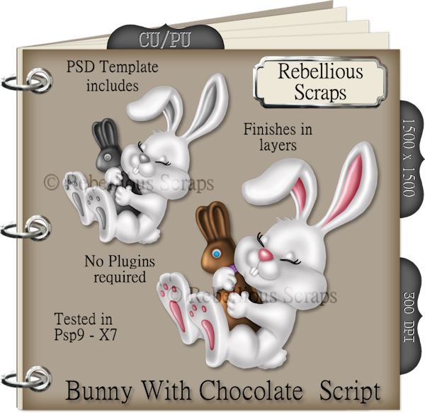 Bunny With Chocolate (FS/CU4CU/TEMPLATE/SCRIPT)