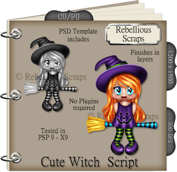 Cute Witch (FS/CU4CU/TEMPLATE/SCRIPT)