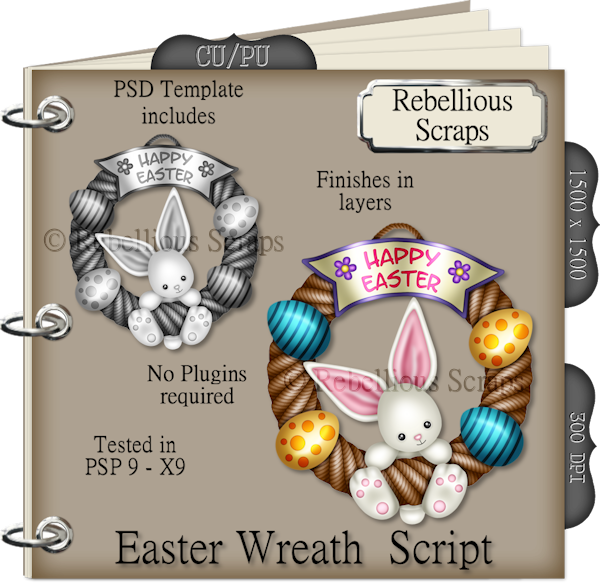 Easter Wreath (FS/CU4CU/TEMPLATE/SCRIPT)