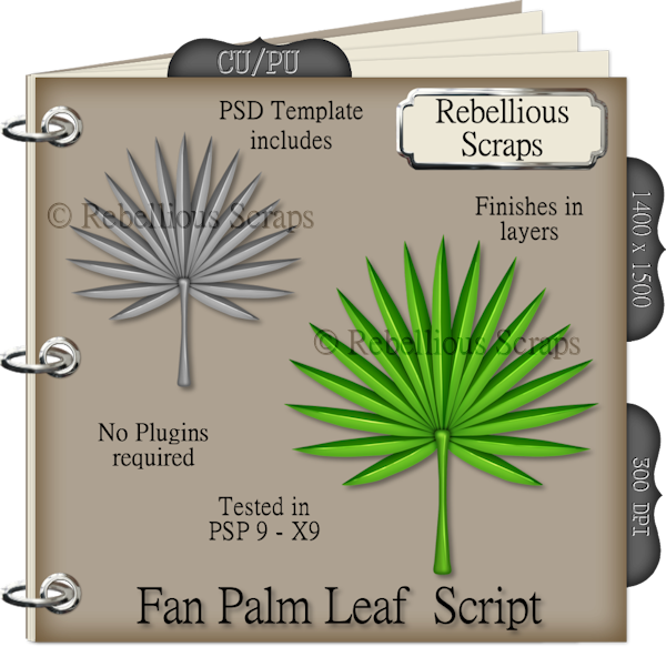 Fan Palm Leaf (FS/CU4CU/TEMPLATE/SCRIPT)