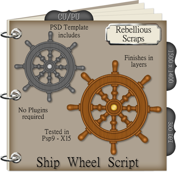 Ship Wheel (FS/CU4CU/TEMPLATE/SCRIPT)