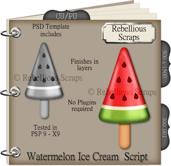 Watermelon Ice Cream (FS/CU4CU/TEMPLATE/SCRIPT)