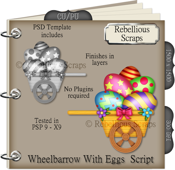 Wheelbarrow With Eggs (FS/CU4CU/TEMPLATE/SCRIPT)