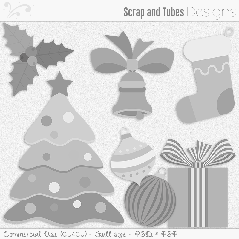 Christmas Mix Templates 2 (FS/CU4CU)