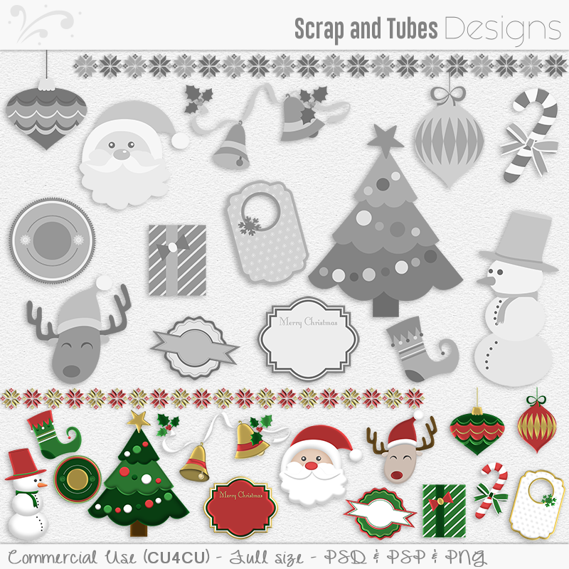 Christmas Mix Templates (FS/CU4CU)