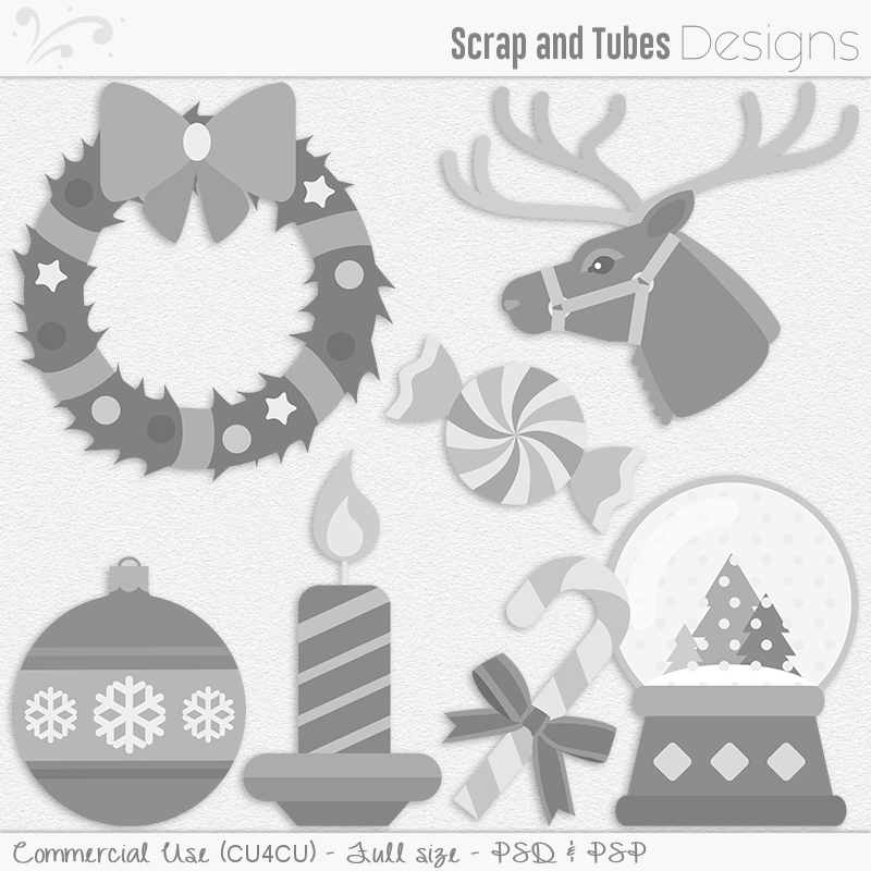 Christmas Mix Templates 3 (FS/CU4CU)