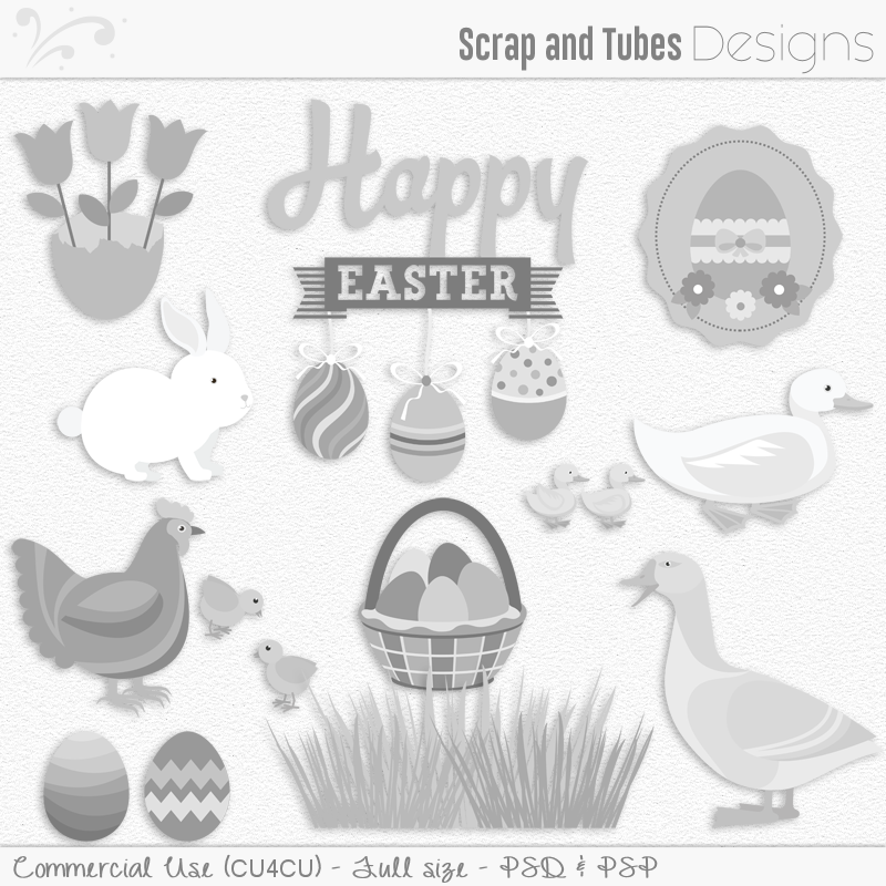 Easter Templates Pack 5 (FS/CU4CU)
