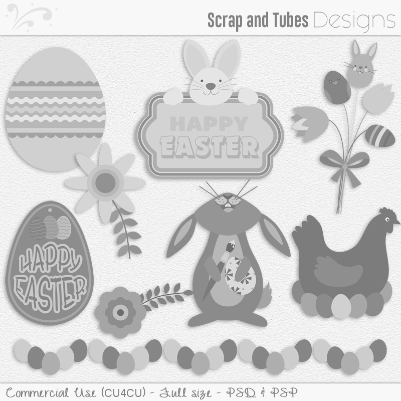 Easter Templates Pack 3 (FS/CU4CU)