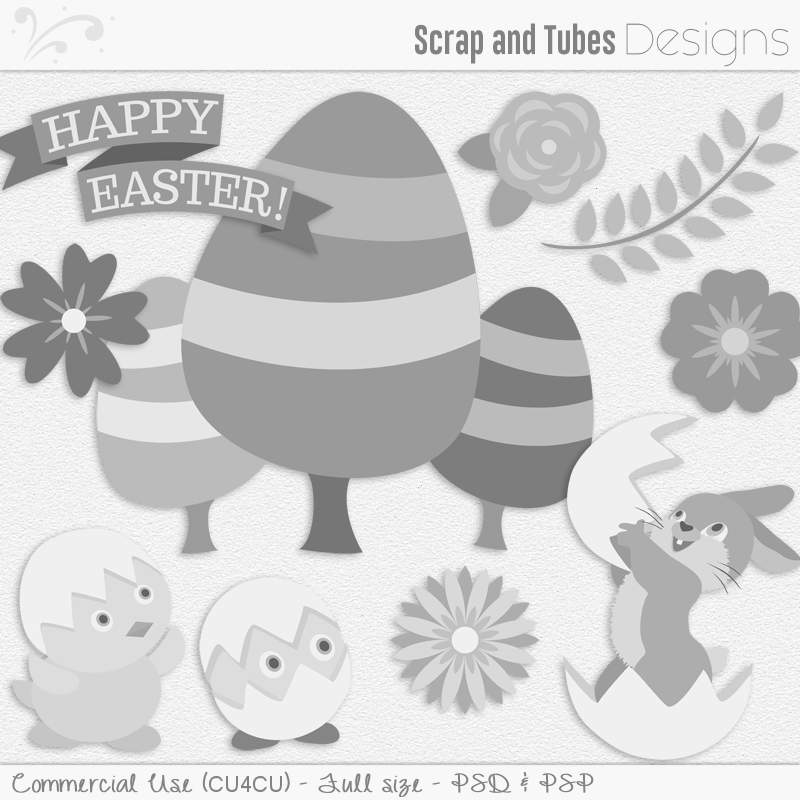 Easter Templates Pack 2 (FS/CU4CU)