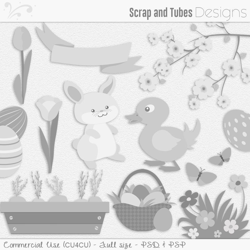 Easter Templates Pack 4 (FS/CU4CU)
