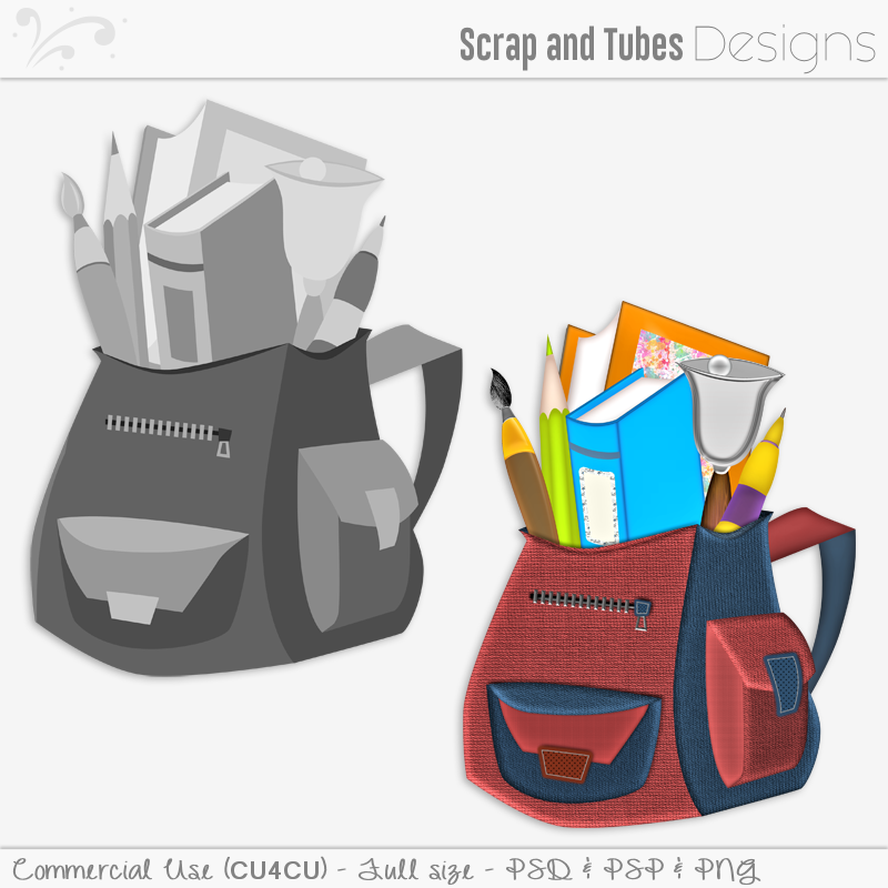 School Backpack Template (FS/CU4CU)