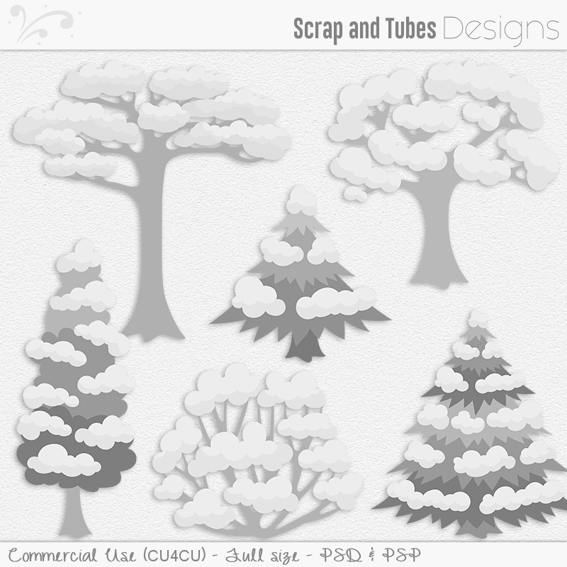 Snow Tree Templates (FS/CU4CU)