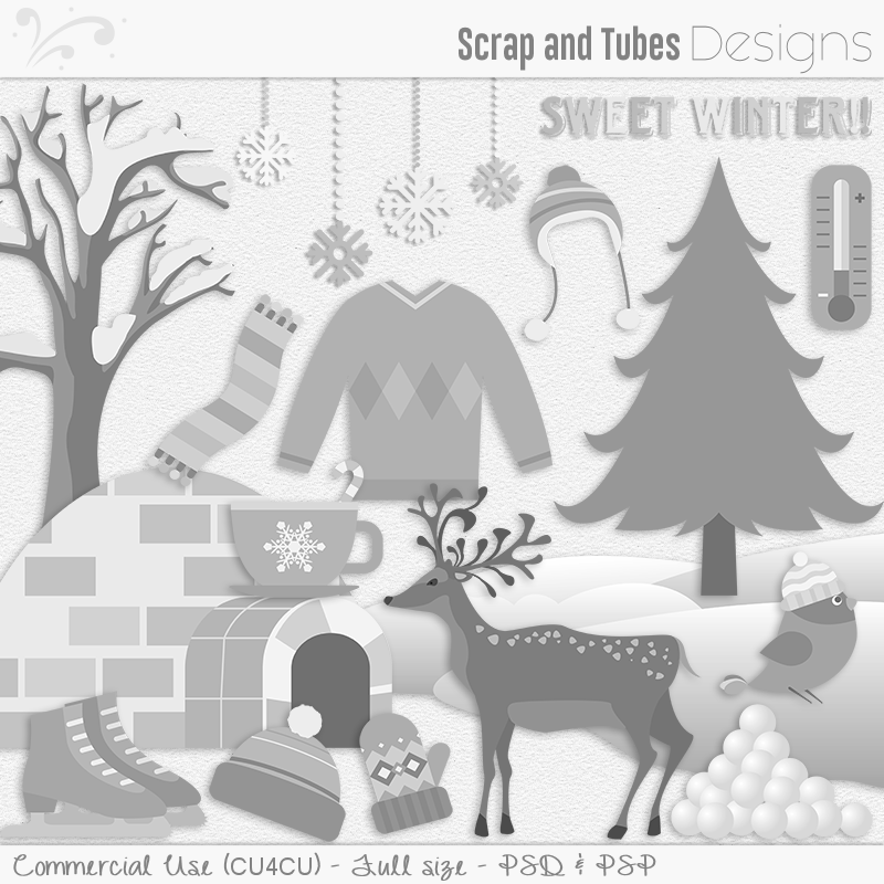 Sweet Winter Templates (FS/CU4CU)