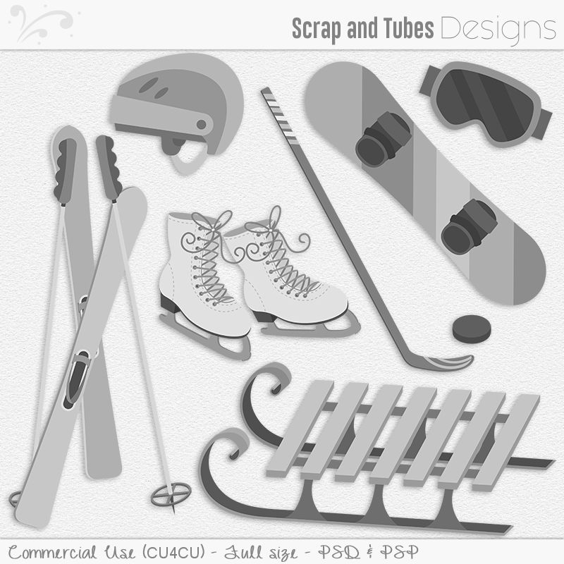 Winter Sports Equipment Templates (FS/CU4CU)