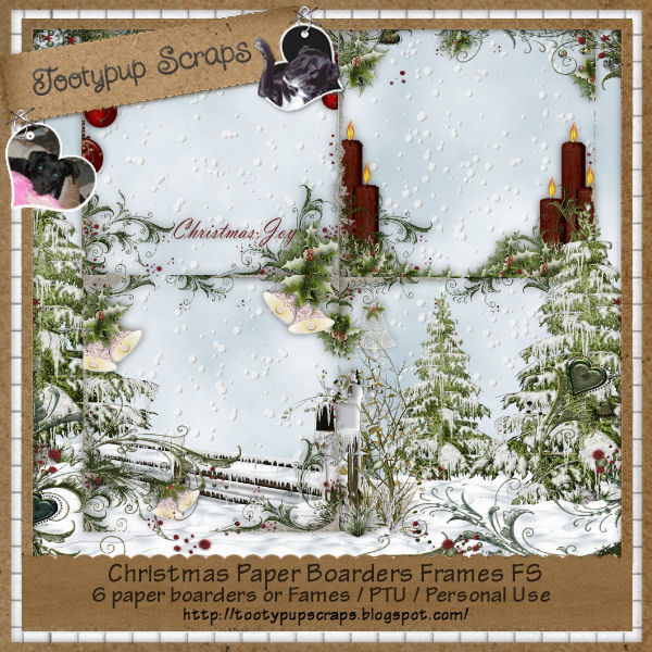 Christmas Paper Boarder Frame FS/PU