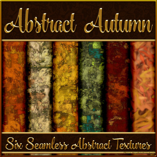 Abstract Autumn Seamless Textures + PS Pattern (CU4CU)