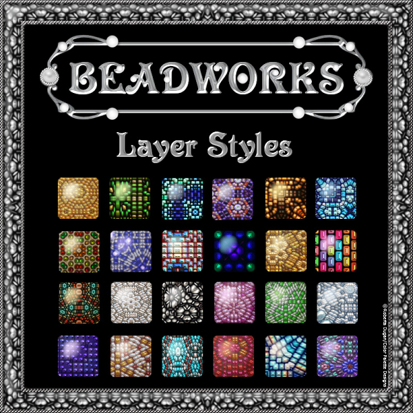 BEADWORKS PS Layer Styles (CU)