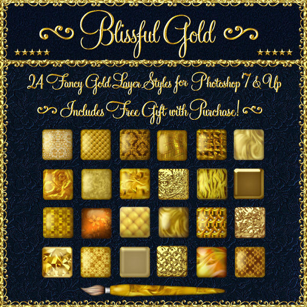 Blissful Gold Layer PS Styles w/ Free Gift (CU)