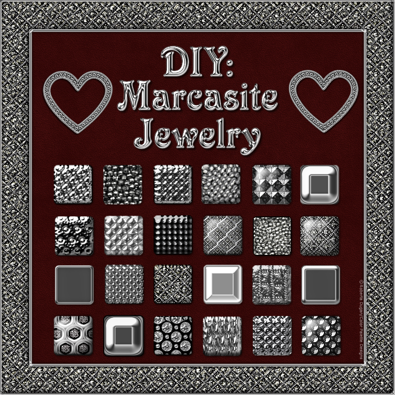 DIY: Marcasite Jewelry PS Styles and PNG Shapes Kit (CU)