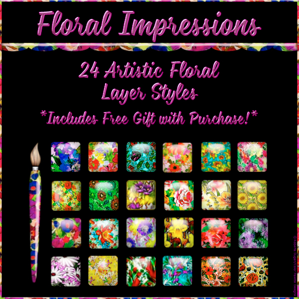 """Floral Impressions"" PS Styles w/Free Gift (CU)"