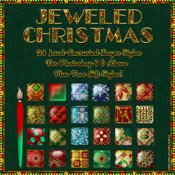 Jeweled Christmas PS Styles w/Free Gift (CU4CU)