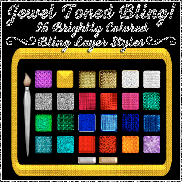 BLING! Jewel Toned PS Layer Styles (CU4CU)