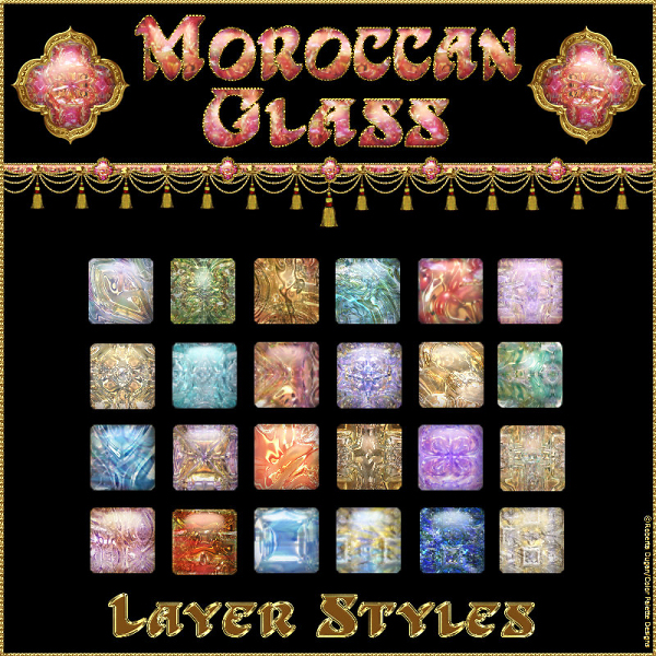 Moroccan Glass PS Layer Styles (CU)