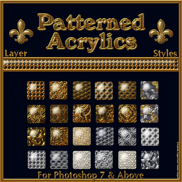 Transparent Patterned Acrylics PS Layer Styles (CU)