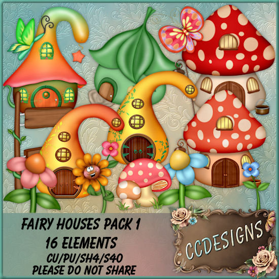 Fairy Houses Pack 1 (FS/CU/S4H)